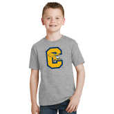 Youth Grey T-Shirt-Capital C Griffs