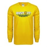 Gold Long Sleeve T Shirt-
