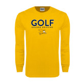 Gold Long Sleeve T Shirt-Golf Design