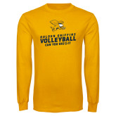 Gold Long Sleeve T Shirt-Can You Dig It - Volleyball