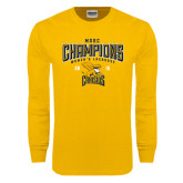 Gold Long Sleeve T Shirt-2016 MAAC Champions Womens Lacrosse
