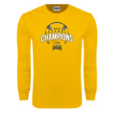 Gold Long Sleeve T Shirt-2017 MAAC Champions Baseball