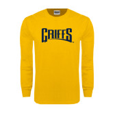 Gold Long Sleeve T Shirt-Griffs Wordmark