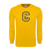 Gold Long Sleeve T Shirt-Capital C Griffs