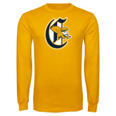 Gold Long Sleeve T Shirt-Old English C Griffs