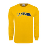 Gold Long Sleeve T Shirt-Arched Canisius