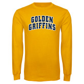 Gold Long Sleeve T Shirt-Arched Golden Griffins