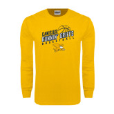 Gold Long Sleeve T Shirt-Runnin Griffs Basketball Design