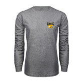 Grey Long Sleeve T Shirt-Griffs w/ Griff Stacked