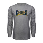 Grey Long Sleeve T Shirt-Griffs Wordmark