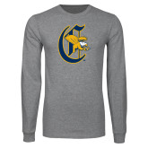Grey Long Sleeve T Shirt-Old English C Griffs