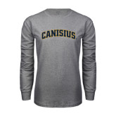 Grey Long Sleeve T Shirt-Arched Canisius