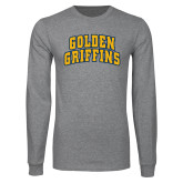 Grey Long Sleeve T Shirt-Arched Golden Griffins