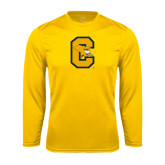 Performance Gold Longsleeve Shirt-Capital C Griffs