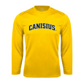 Performance Gold Longsleeve Shirt-Arched Canisius
