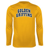 Performance Gold Longsleeve Shirt-Arched Golden Griffins