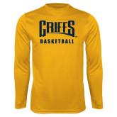 Performance Gold Longsleeve Shirt-Basketball