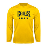 Performance Gold Longsleeve Shirt-Hockey
