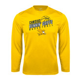 Syntrel Performance Gold Longsleeve Shirt-Runnin Griffs Basketball Design