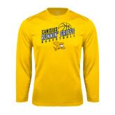 Performance Gold Longsleeve Shirt-Runnin Griffs Basketball Design