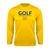 Syntrel Performance Gold Longsleeve Shirt-Golf Design