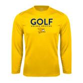 Performance Gold Longsleeve Shirt-Golf Design