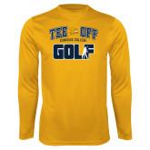 Performance Gold Longsleeve Shirt-Tee Off Golf Design
