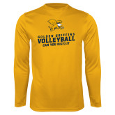 Syntrel Performance Gold Longsleeve Shirt-Can You Dig It - Volleyball