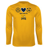 Syntrel Performance Gold Longsleeve Shirt-Just Kick It Soccer Design