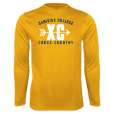 Performance Gold Longsleeve Shirt-Cross Country Design