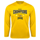 Syntrel Performance Gold Longsleeve Shirt-2016 MAAC Champions Womens Lacrosse