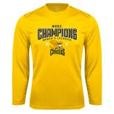 Performance Gold Longsleeve Shirt-2016 MAAC Champions Womens Lacrosse