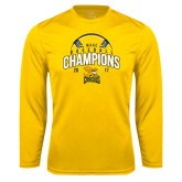 Syntrel Performance Gold Longsleeve Shirt-2017 MAAC Champions Baseball