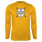 Performance Gold Longsleeve Shirt-2018 MAAC Baseball Champions