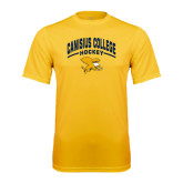 Performance Gold Tee-Arched Canisius College Hockey