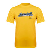 Syntrel Performance Gold Tee-Baseball Script w/ Bat Design