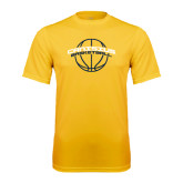 Syntrel Performance Gold Tee-Basketball Ball Design