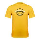 Performance Gold Tee-Basketball Ball Design