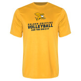 Syntrel Performance Gold Tee-Can You Dig It - Volleyball