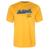 Syntrel Performance Gold Tee-Script Softball w/ Bat Design