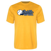 Syntrel Performance Gold Tee-Script Softball w/ Ba Design
