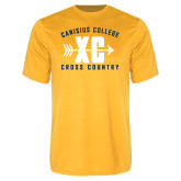 Syntrel Performance Gold Tee-Cross Country Design