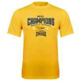 Performance Gold Tee-2016 MAAC Champions Womens Lacrosse