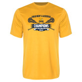 Performance Gold Tee-2018 Mens Lacrosse Champions