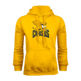 Gold Fleece Hoodie-Canisius w/ Griff Stacked