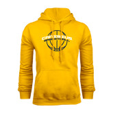 Gold Fleece Hoodie-Basketball Ball Design