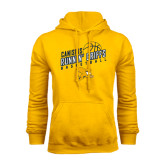 Gold Fleece Hoodie-Runnin Griffs Basketball Design