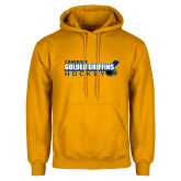 Gold Fleece Hoodie-Hockey Stick Design