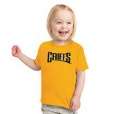 Toddler Gold T Shirt-Griffs Wordmark