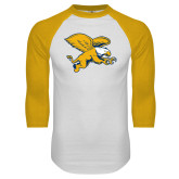 White/Gold Raglan Baseball T-Shirt-Griffin
